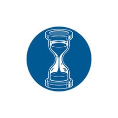 Time without end conceptual icon, web design element. 3d antique