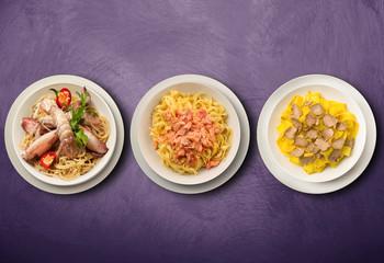 tris di primi piatti tipici italiani