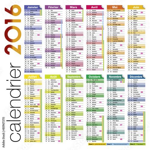 calendrier 2016 à imprimer gratuit en pdf et excel calendrier