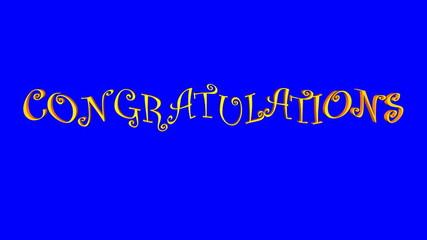 Congratulations (Blue Screen)