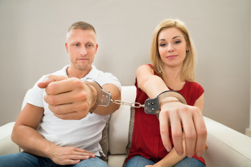 Couple Handcuffed Together