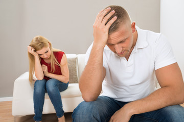 Young Stressed Couple