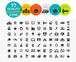 High Quality Education Icons including: teaching, University and