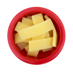 Bamboo Shoots In Bowl Top View