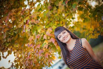 Girl autumn portrait
