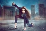 Businesswoman Superhero - 80969121