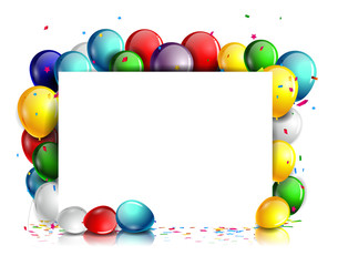 colorful Birthday background with blank sign