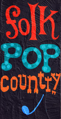 Folk, pop, country