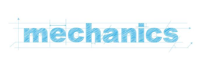 """mechanics"" icon (math research physics engineering)"