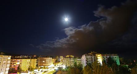 Mahmutlar. night view