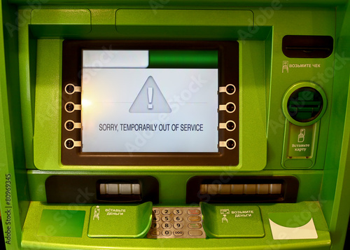ATM Machine out of service - 80969345