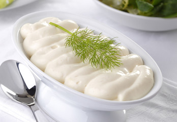 Tartar sauce dressing in a bowl