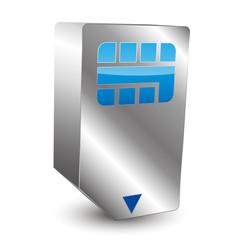 Simcard 3D icon