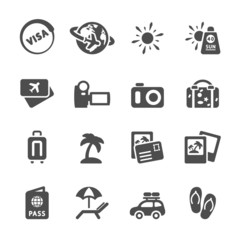 travel and vacation icon set 4, vector eps10