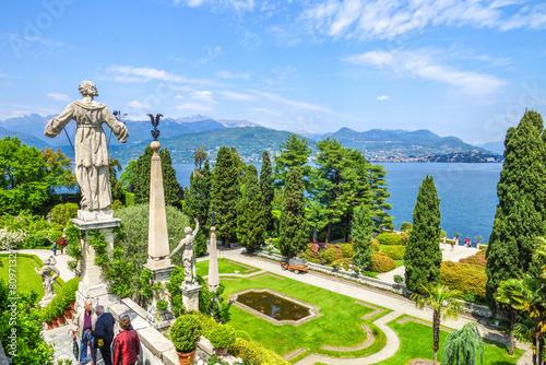 Leinwanddruck Bild Isola Bella Blick auf Lago Maggiore