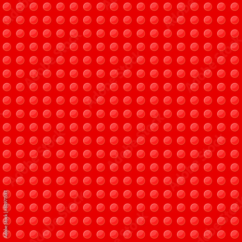 Red Seamless Background of Plastic Construction Block. Vector - 80971597