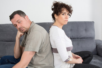 Couple who have fallen out over a disagreement