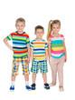 Three fashion blonde children
