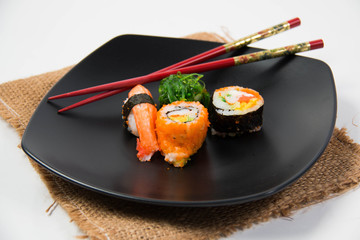 Close up the delicious Japanese sushi