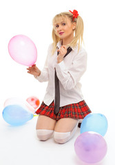 woman young schoolgirl costume