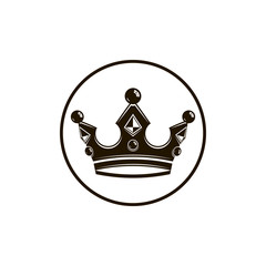 3d vintage crown, luxury coronet illustration. Classic imperial