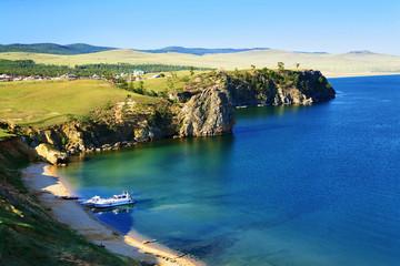 Travel on Lake Baikal in summer.