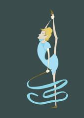 Гимнастка с лентой