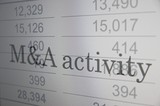 M&A (Mergers and acquisitions) activity. poster