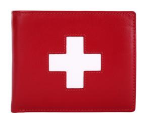 Swiss flag wallet