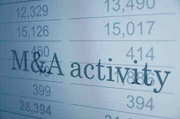 M&A (Mergers and acquisitions) activity.
