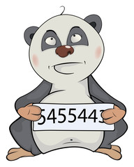 Panda the prisoner. Cartoon