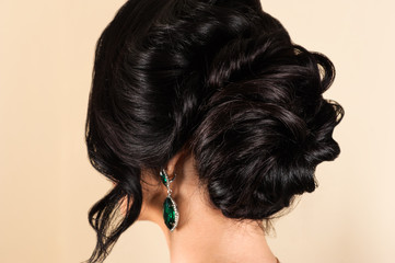 woman with stylish hairstyle