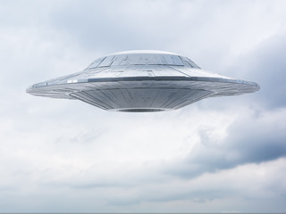 ufo on a sky background