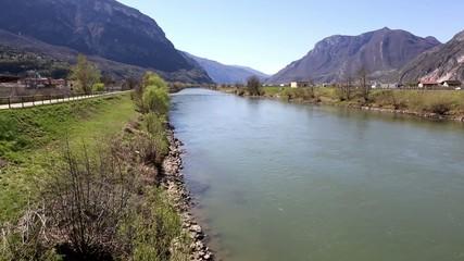 Adige river near Trento - Italy