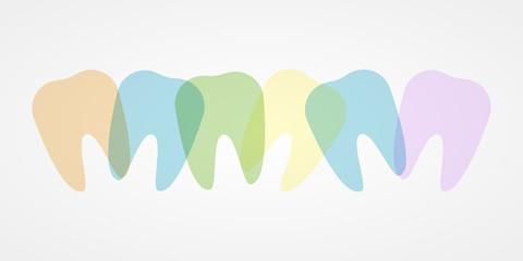 Colorful teeth illustration