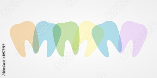 Fototapeta Colorful teeth illustration