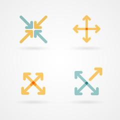 Set: arrow icons