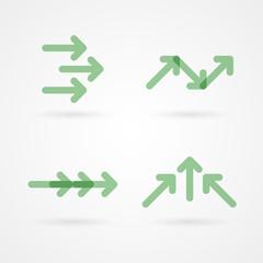 Set: green arrow icons