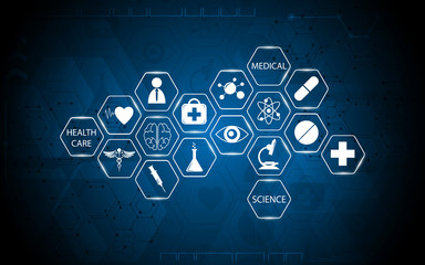 abstract medical health care and science concept background
