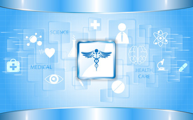 rectangle abstract health care concept background