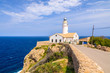 Lighthouse on cliff edge, Cala Ratjada, Majorca island, Spain - 80978987