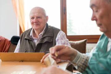 Senior people playing