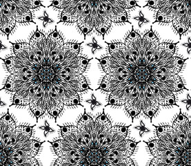 Vector seamless pattern. Ornamental vintage tracery.