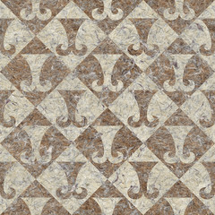 Abstract paneling pattern - seamless background - hipster symbol