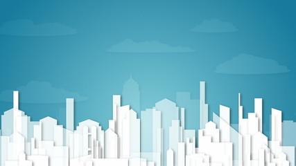 animated background with city illustration