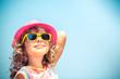 Leinwanddruck Bild - Happy child on summer vacation