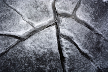 Cracked ice. Picture can be used as a background