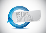 be loyal buy local cycle sign illustration poster
