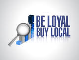 be loyal buy local business graph sign poster