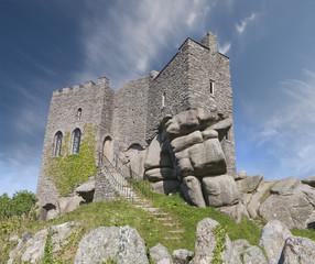 Carn Brea Castle in Cornwall, England